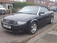 *** Audi A4 Cabriolet Convertible - 05 - 1.8T - Black - MOT - Drives Perfect - BARGAIN ***