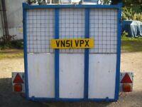 Heavy duty box trailer with ramp