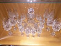 Zwiesel (Zwiesel Krystallglass) Hand Cut German Lead Crystal. Complete Set