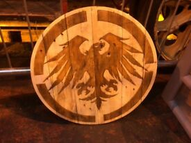 Hand made wooden shield