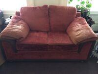 2 seater orange sofa for sale