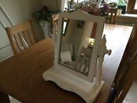 painted dressing table mirror on a stand