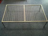 Tall Grey Metal Mesh Display Tables, Used for Pram Display
