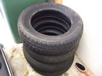 SET OF FOUR PART USED WINTER TYRES