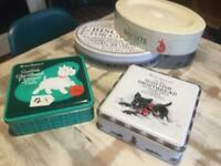 SET OF 4 M&S MARKS & SPENCER BISCUIT TINS ONE COLLECTIBLE