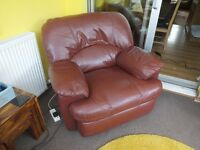 Leather Reclining Arm Chair