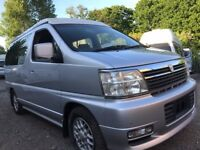 2000 NISSAN ELGRAND NEW FULL SIDE CONVERSION 4 BERTH POP TOP CAMPERVAN 3 TD