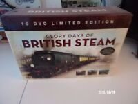 Boxed Set of 10 DVDs on Steam railways