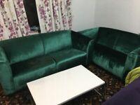 Brand new green velvet and chesterfield sofa sets for sale