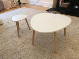 Set of white coffee tables
