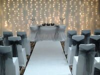 £350 Backdrop, Chair Cover and Centre Piece Wedding Package - Limited Time Only