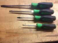 Snap On green soft grip screwdrivers