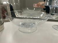 Glasswear serving pieces fruit bowl desert