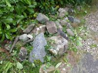 Mixed sized stones/ boulders suitable for rockery