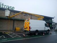 Cherry Picker Hire with IPAF Trained Operator CCTV Signage Banners Guttering Surveys Access Hire