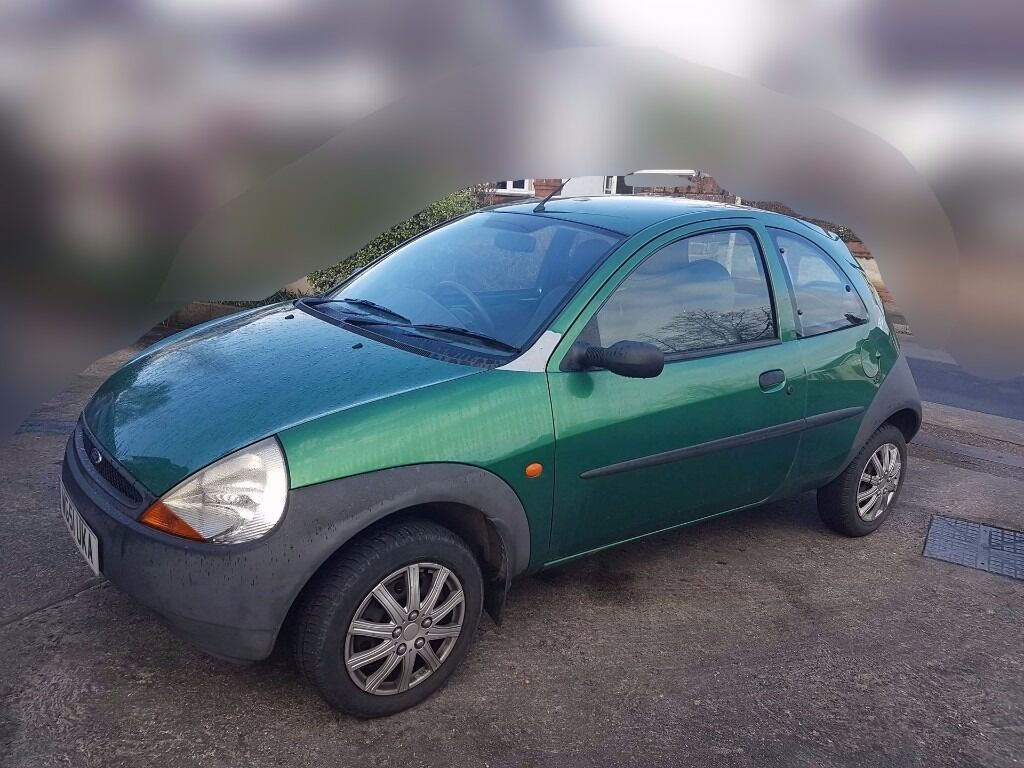 green 2002 ford ka 1 3 3dr 30 000 genuine miles great 1st. Black Bedroom Furniture Sets. Home Design Ideas