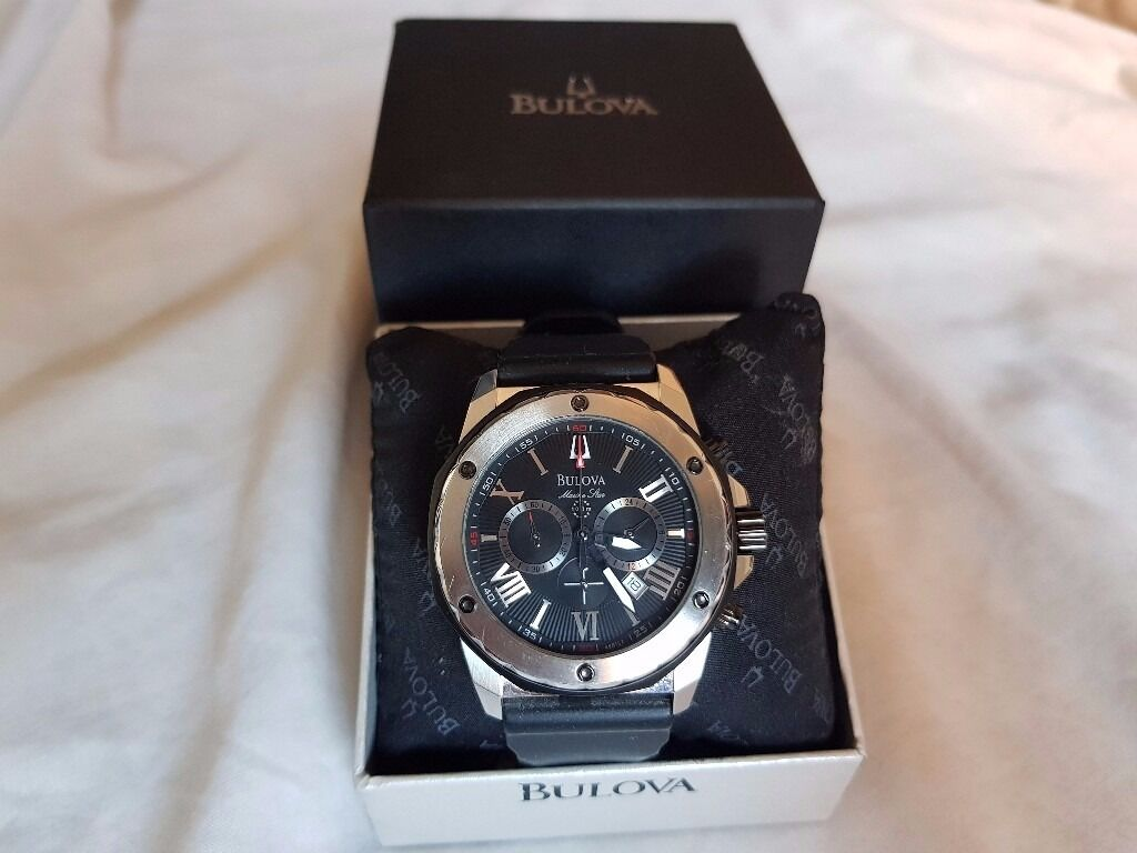Bulova Marine Star Silver Mens Luxury Watch timepiecein Oldham, ManchesterGumtree - Hi, Here I have for sale my Bulova Marine Star 98B223. Bulova is a premium luxury brand with amazing watches and have some of the best designs. The watch is finished in Brushed Stainless steel. In a Silver and Black combination to really make it...