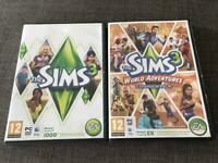 Sims 3 & World adventures expansion pack for PC