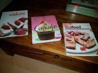 Three baking/cooking books