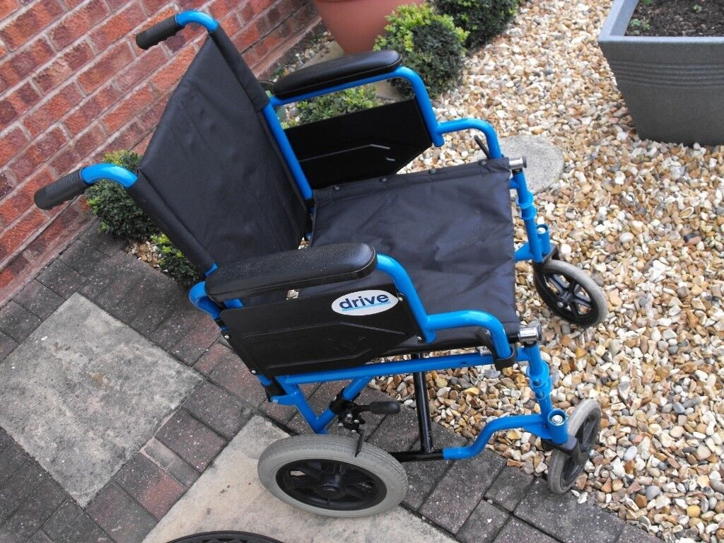 DRIVE WHEELCHAIR ,SMALL WHEEL TYPE ###NOW WITH FOOTRESTS ### | in Rugeley,  Staffordshire | Gumtree
