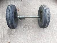 Heavy duty narrow axle