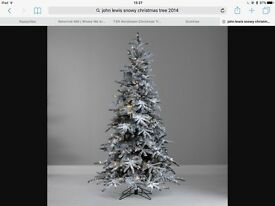 John Lewis 6ft pre lit snowy Mountain Pine Christmas Tree