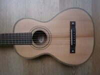 VINTAGE VIATOR Paul Brett compact travel acoustic guitar FURTHER PRICE DROP