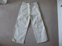 Pair of soft Beige Chinos - Age 7 - Brand new
