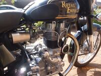 ROYAL ENFIELD BULLET 350, 2007, 5,000 MILES, NEW MOT, WITH ENFIELD SCREEN & PANNIERS, SUPERB