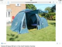 Coleman Bi Space 3 person tent in good condition.