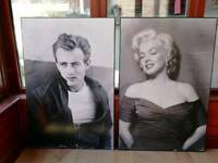 Large Marilyn and James Dean pictures