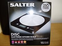 Salter DISC Electronic Kitchen Scales Unused