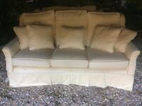 £50 for 2 Multiyork sofas with loose covers - 3 seater and 2 seater