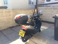 Learner legal 50cc Sym DD50 scooter, 2009 silver, taxed, MOT Aug 2017. Full service history £650 ono