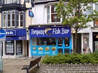 Former Fish & Chip Shop With Take Away Busy Torquay Town Centre