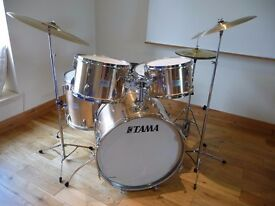 TAMA DRUM KIT WITH STANDS AND CYMBALS - GREAT STARTER KIT