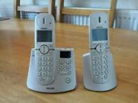 Set of 2 Philips Landline home phones