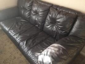 Dark brown 3 seater DFS couch