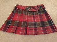 Ladies short tarten skirt