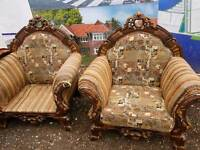 2 chairs French style sofa can deliver