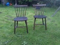 Pair of danish stickback chairs fdb mobler