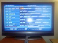 """Sony Bravia 40"""" TV (silver)."""