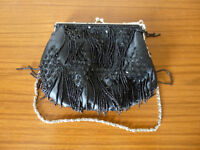 Beaded and sequinned ladies evening bag