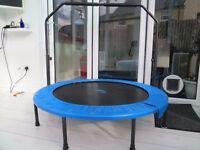 Upper Bounce Mini Foldable Rebounder Fitness Trampoline /Adjustable Handrail