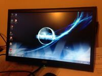 """2 Off AOC Monitors 19 & 20"""" but no stands, can be wall mounted or bracket"""