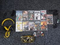 Sony PSP with 8 games & 2 films