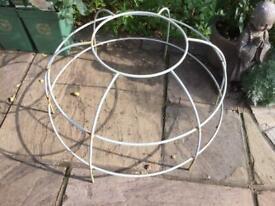 Large circular metal mound Plant Support