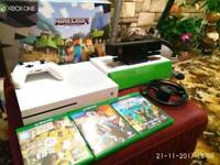 Xbox one S 4K CONSOLE with Kinect and adapter and 3 games