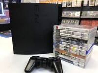 PS3. Playstation 3.console & 12 Games Bundle. 150GB payment and collection in store