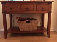 solid wood mahogany console table / sideboard / chest of drawers